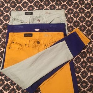 Set of 3 • J.Crew Toothpick Ankle Jeans